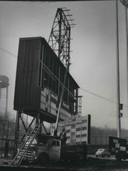 The scoreboard is still in the works at Milwaukee County Stadium on March 18, 1953, less than a month before the Milwaukee Braves were scheduled to play their first game at the ballpark against the St. Louis Cardinals. This photo was published in the March 19, 1953, Milwaukee Journal.