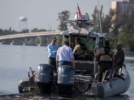 Florida Gov. Rick Scott completed a tour of the Caloosahatchee