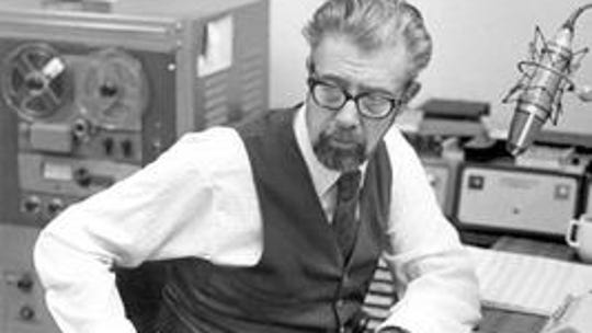 Don Herman in WCKY-AM studios.