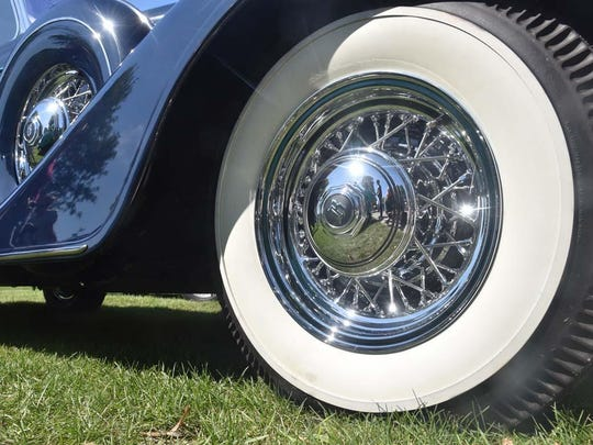 The whitewalls of a 1934 Buick 66 at last year's Ephraim Hill Climb & Concours d'Elegance.