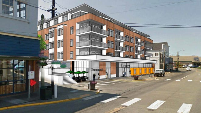 Rendering shows plans for a new structure at 640 Bay Street in Port Orchard.