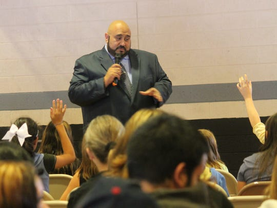 Payan interacted with Alamogordo Public School students
