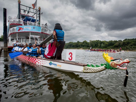 The Montgomery Dragon Boat Race and Festival held at