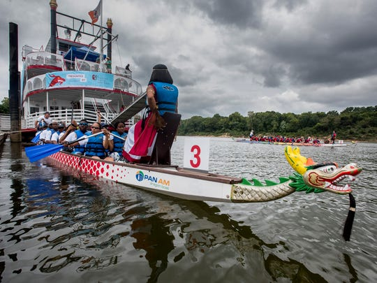 The Montgomery Dragon Boat Race and Festival held at the Riverwalk in Montgomery, Ala., on Saturday August 26, 2017.
