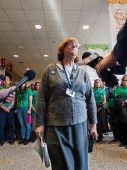 Last year: Fran Brock, president of the Burlington