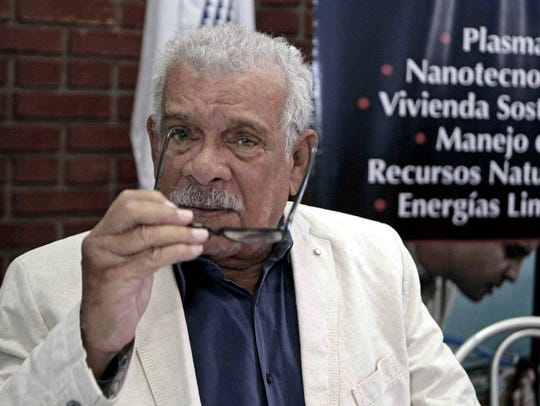 Poet Derek Walcott in August 2012 in San Jose, Costa