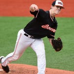 Oregon State's Sam Tweedt, a freshman right-hander from South Salem High School, leads the Beavers with eight wins.