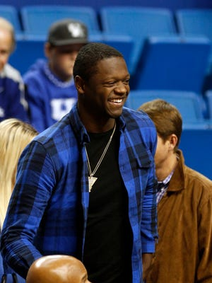 Former Kentucky player and current LA Laker, Julius Randle, was in Rupp Arena for the big North Carolina game. Dec. 13, 2014