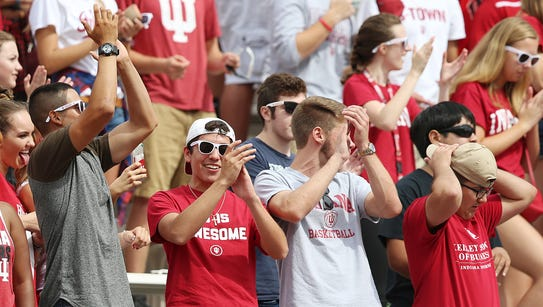 IU fans showed up strong early on against Ball State,
