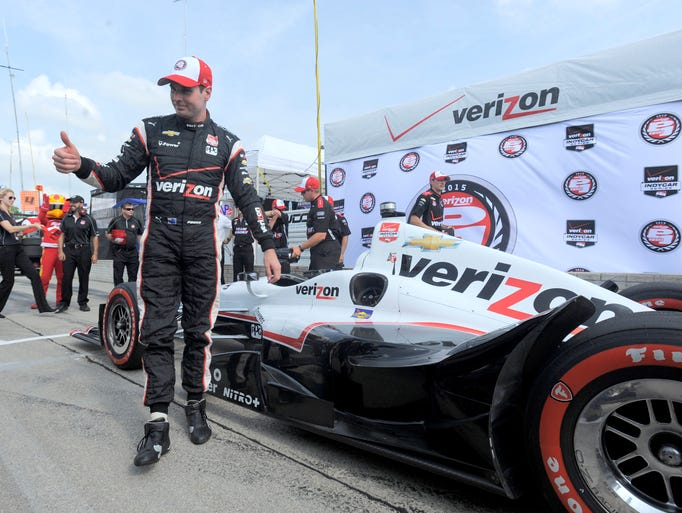 Will Power driver of the No. 1 Verizon Penske car gives