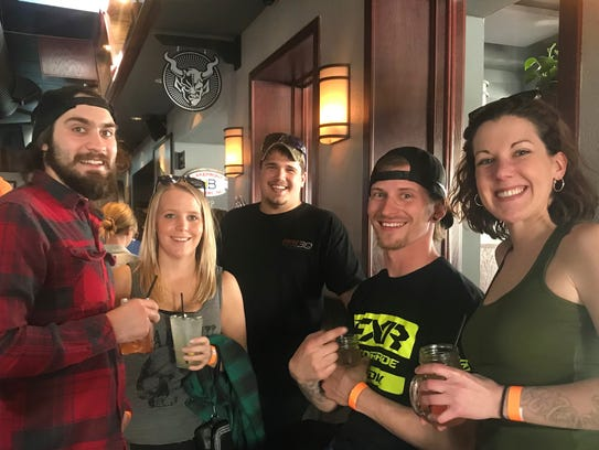 The first stop on Shebikin' was Sheboygan favorite 8th Street Ale Haus. The ride will make stops at local bars, some of which will have specials just for riders.