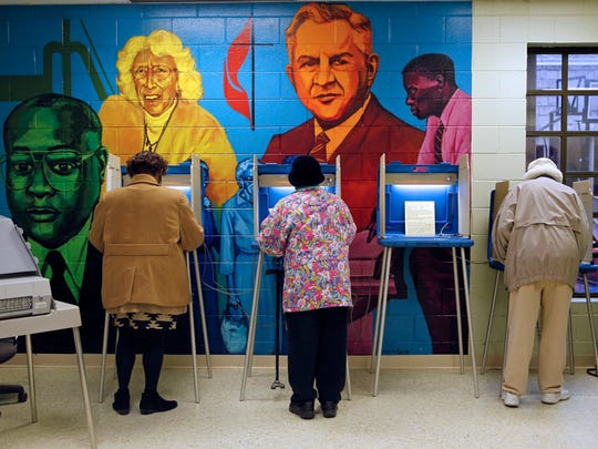 Milwaukee residents vote at the Northcott Neighborhood House at 2460 N. 6th St.