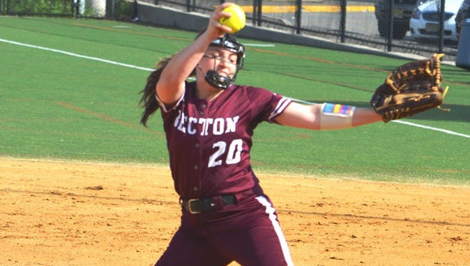 Becton freshman pitcher Carly Polmann was named to the All-NJIC Meadowlands Division first team.