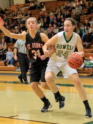 Leah Weslock scored 16 points for Howell in a 60-30 victory over Bath, boosting her two-game average to 15.5.
