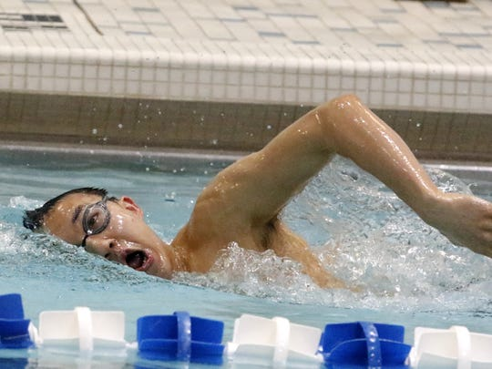 Horseheads junior Shoonhsin Li practices Tuesday at Horseheads High School.