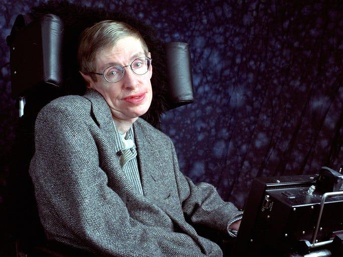 "Professor Stephen Hawking, author of ""A Short History"