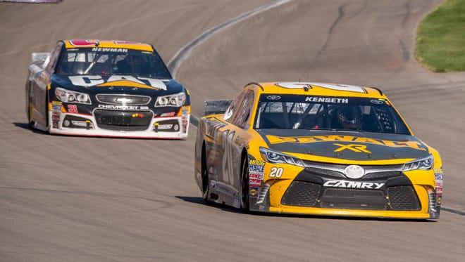 Matt Kenseth front, and Ryan Newman have each won at Kansas Speedway before.