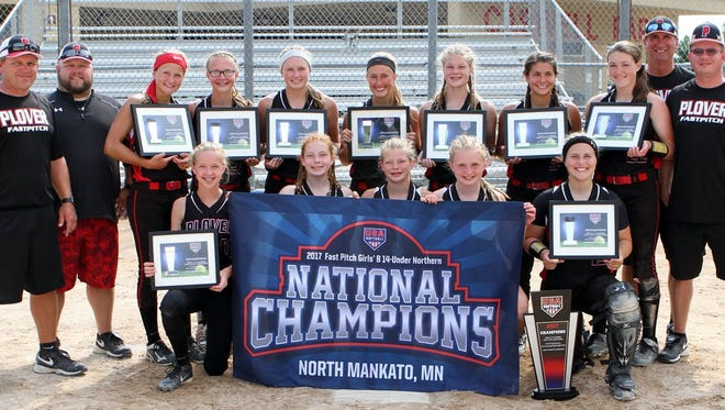 The Plover 14U softball team rattled off seven straight wins in elimination games to win the national championship.
