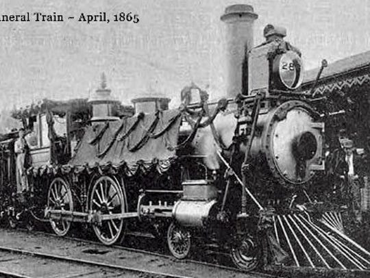 Abraham Lincoln's funeral train left Washington on