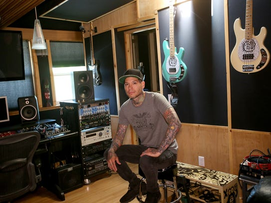 Mike Herrera of MxPx at his studio in Bremerton on
