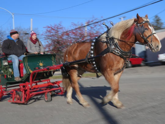 Horse drawn carnages were one of the attractions during