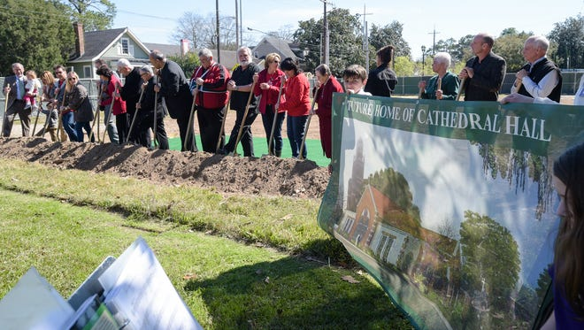 Cathedral Carmel Catholic School breaks ground on new Family center. Feb 26, 2016.