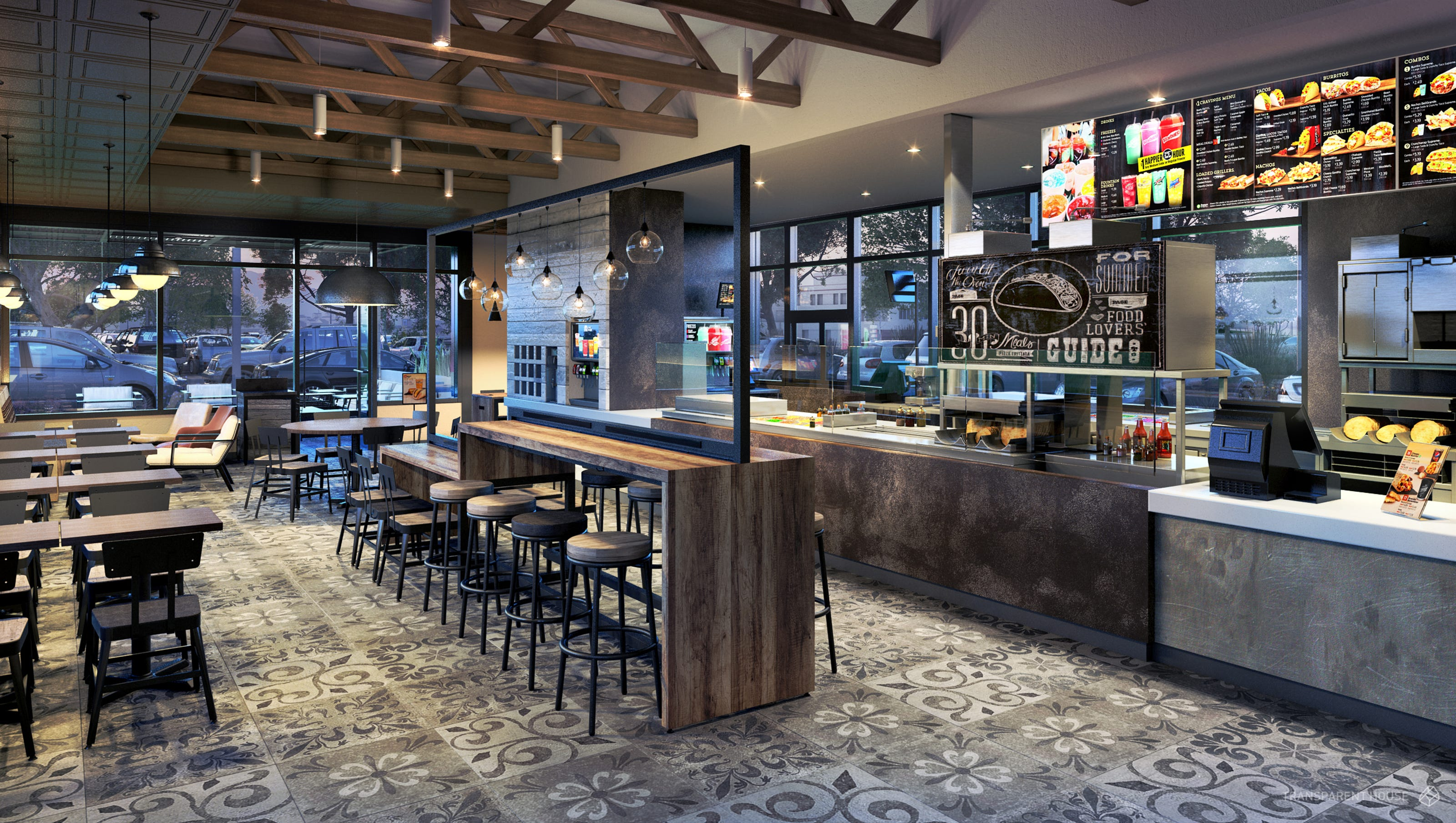 Warehouse Loft Floor Plans Taco Bell Tests Upscale Interiors To Boost Dinner Trade