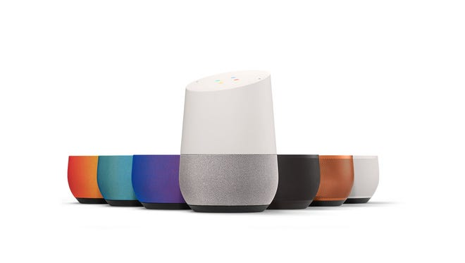 You can remove the Google Home base to dress it up in different colors