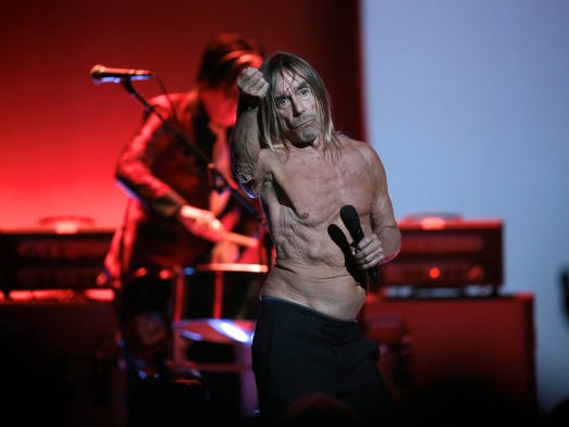 Iggy Pop performs at the Fox Theatre on Thursday, April