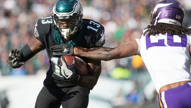Eagles wide receiver Josh Huff was released Thursday following an arrest two days ago.