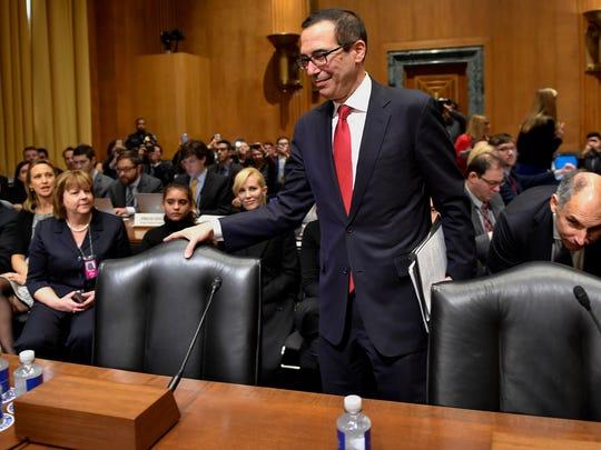 Steven Mnuchin, nominee for Secretary of the Treasury,