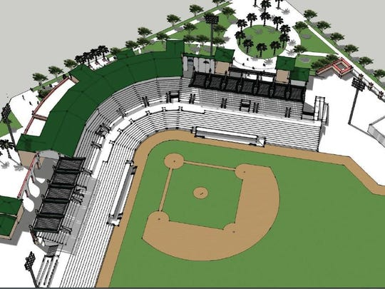 The new awnings at Roger Dean Stadium will be going over the seats in the upper sections down the first- and third-base lines.