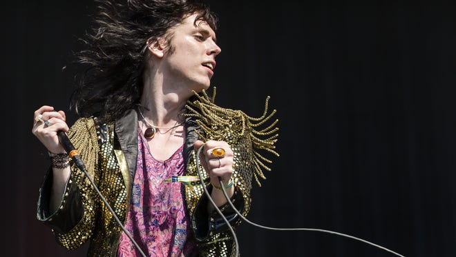 Luke Spiller of The Struts performs at Firefly Music Festival in Dover in June.