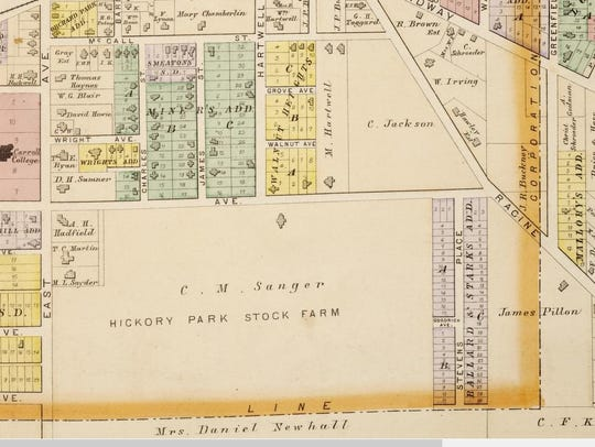 This is an 1891 plat map of the Waukesha property owned