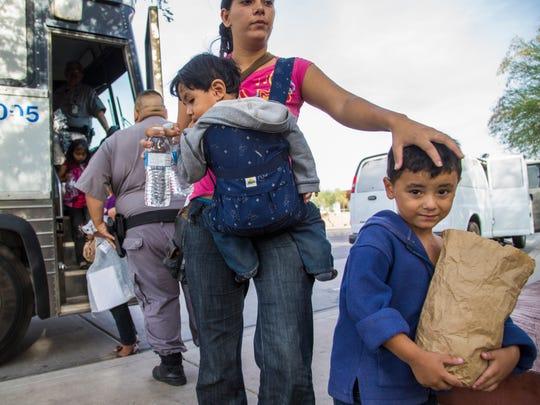 Immigrant children bus