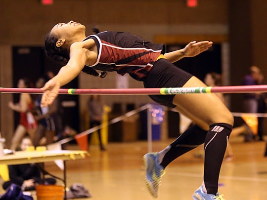 Jeriyla Kamau-Weng of Nyack competes in the girls high