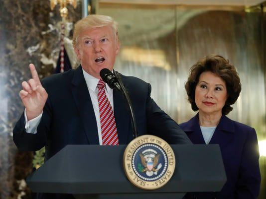 Donald Trump, Steve Mnuchin, Elaine Chao
