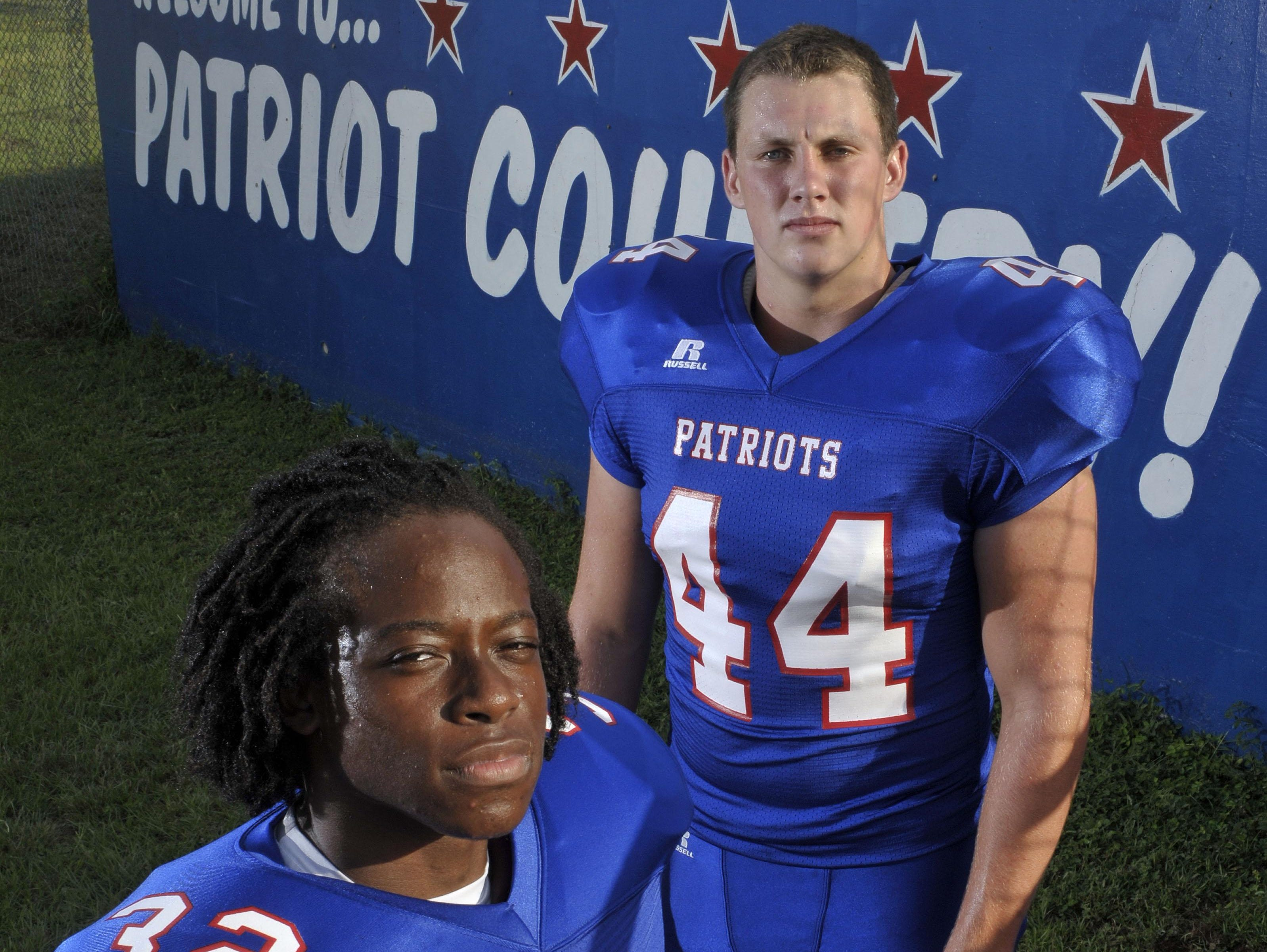 Pace High leaders Anthony Johnson, Jr. (No. 32) and Brice Peaden (No. 44) are ready to lead the Patriots into the 2015 season.