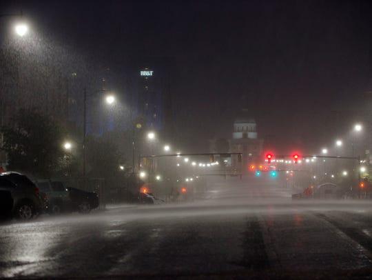 Rain arrives produced by Hurricane Nate on Sunday,