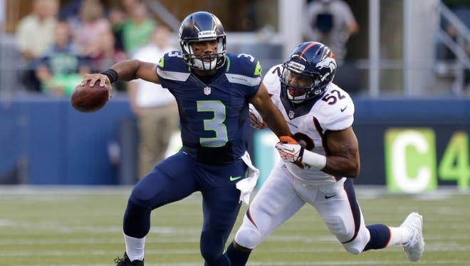 Seahawks QB Russell Wilson faced the Broncos in preseason.