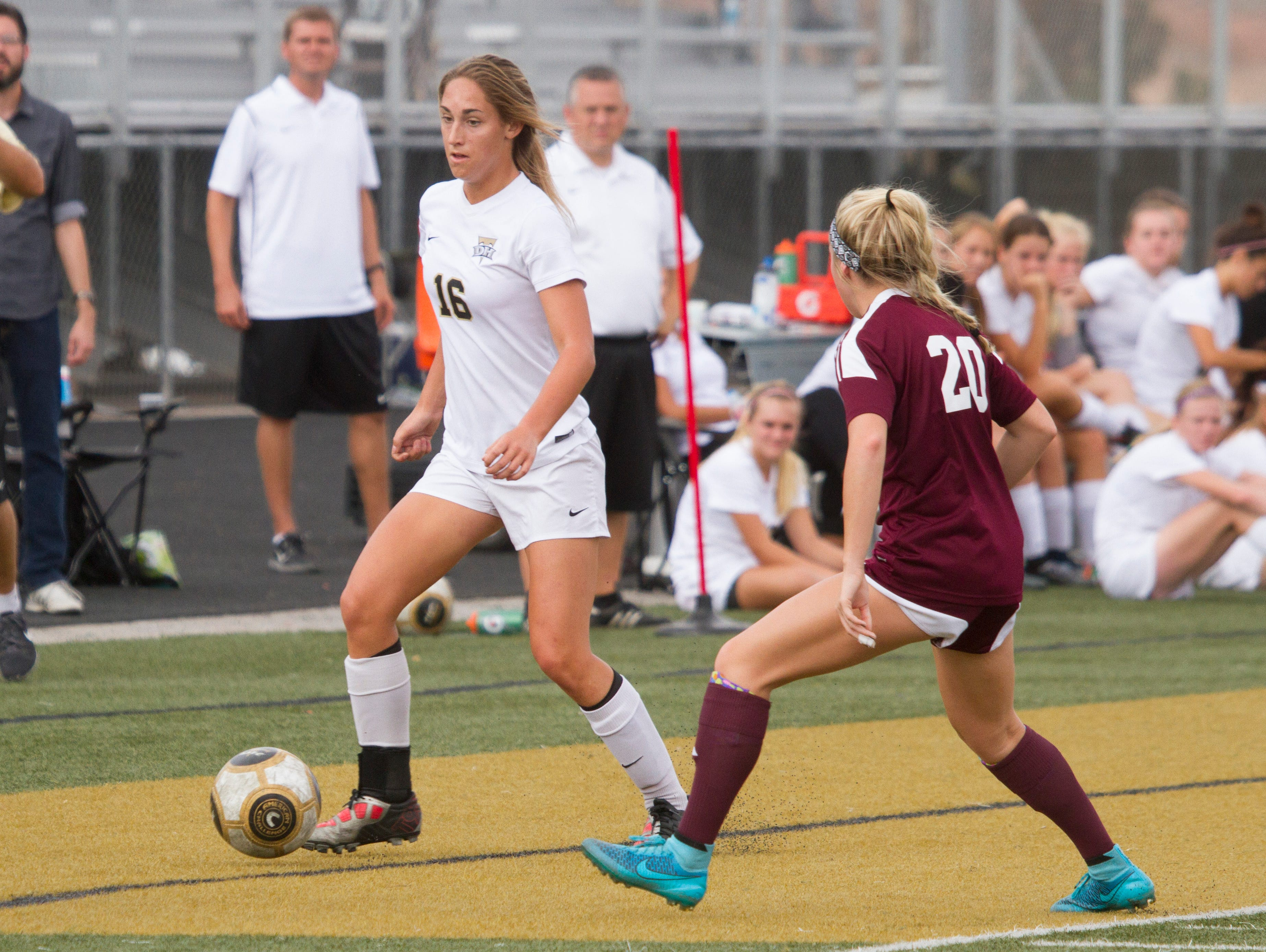 Desert Hills girls soccer take on Morgan High Saturday, Oct. 17, 2015.