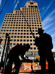 Morgan Keegan & Co.'s success prompted the investment bank to put up this headquarters tower in Downtown Memphis. The firm's later sale made employee Rodney Herenton realize he could launch is own business and he did -- in Chicago. ( Lance Murphey / The Commercial Appeal)