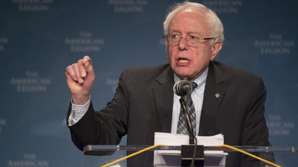 Bernie Sanders is running for the presidency. (Andrew P. Scott, USA TODAY)