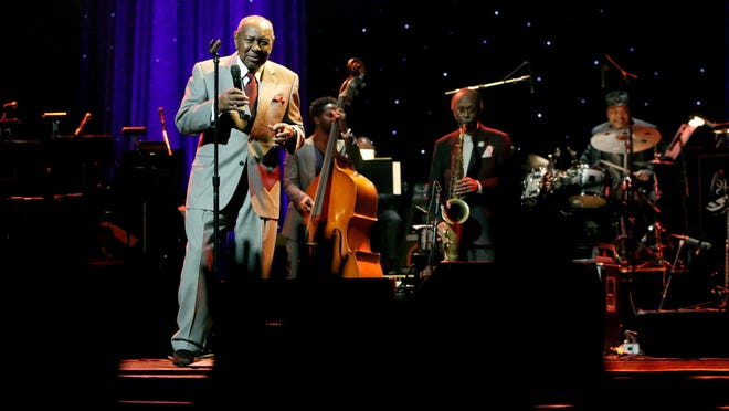 Freddy Cole performs onstage during the Thelonious Monk Institute International Jazz Vocals Competition 2015 at Dolby Theatre on Nov. 15, 2015 in Hollywood, California.