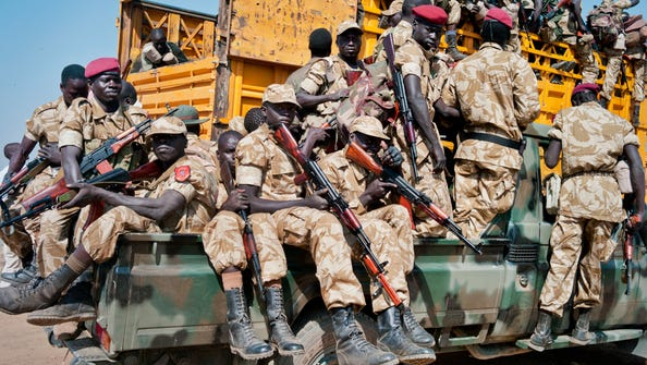 U.S. rapid reaction teams have worked in South Sudan, where government troops are fighting rebels.