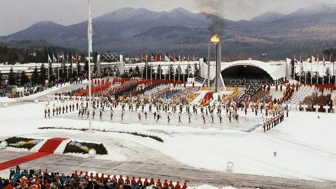 From Feb. 13, 1980, the opening ceremony of the XIII Winter Olympics in Lake Placid, N.Y. Lake Placid is celebrating the 40th anniversary of the Winter Olympics that were held in the Adirondack Mountain village. It's an important moment for Lake Placid, which will host the 2023 Winter World University Games, and a reminder of its place as one of only three resort towns to host two Winter Olympiads.