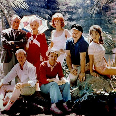 The cast of the 1960s TV series 'Gilligan's Island.'