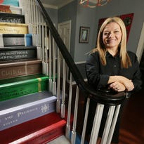 Surprise! Books inspire unique home stairway renovation