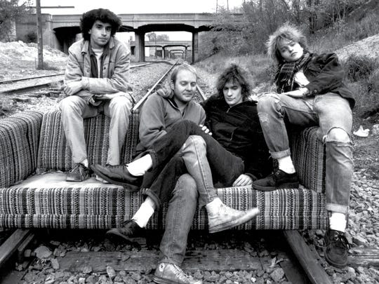 The Replacements, circa 1980s. From left: Chris Mars, Bob Stinson, Paul Westerberg and Tommy Stinson.