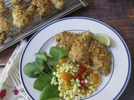 Sara Moutlon via AP This dish of Mexican-style chicken